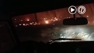 Las primeras horas del incendio en Doñana visto desde dentro por un retén