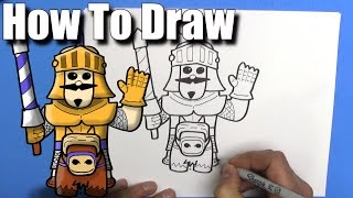 How To Draw a Prince from Clash Royale  - EASY Chibi - Step By Step