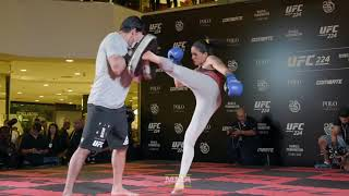 UFC 224: Amanda Nunes Open Workout Highlights - MMA Fighting