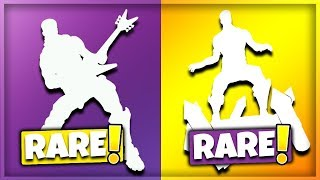 TOP 10 RAREST EMOTES IN FORTNITE! (Fortnite Battle Royale)