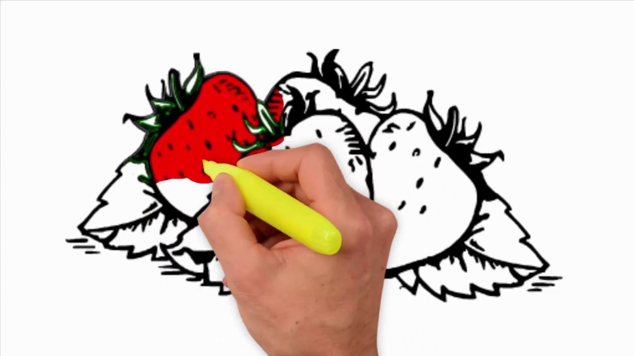 coloring pages how to draw and color strawberry plant how to draw