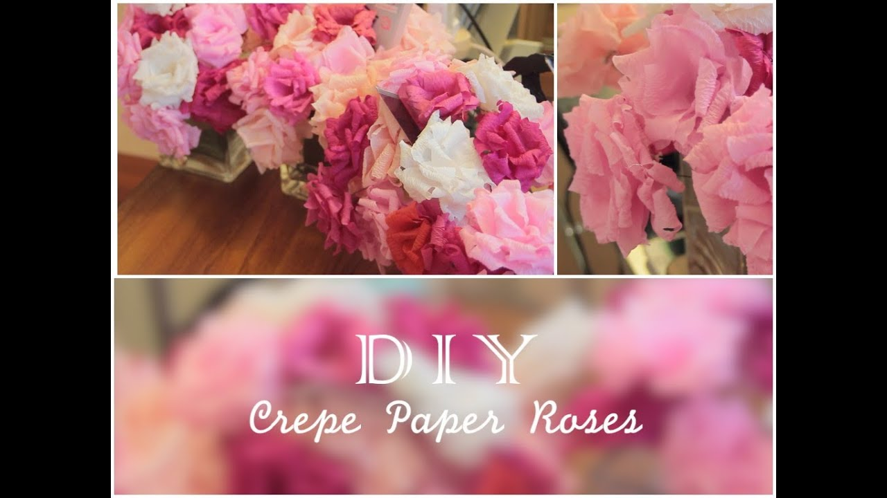 21st Birthday Series How To Make Crepe Paper Roses Youtube