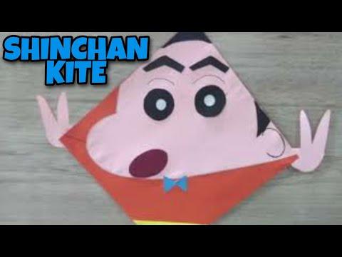 How to make SHINCHAN KITE ( CRAFT purpose only) #Vasant Panchmi #Lohri