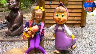 ВЛОГ Прогулка с Куклой Беби Борн на детской площадке | Играем и кормим животных Видео для детей