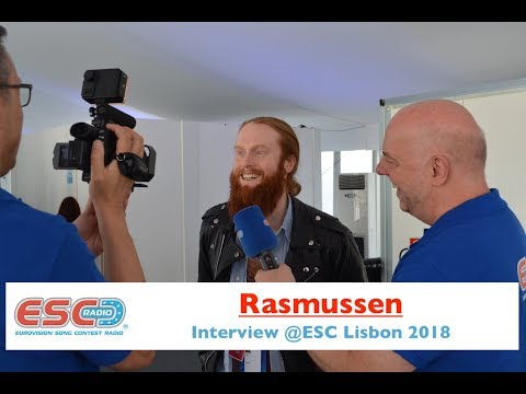 Rasmussen (Denmark) interview @ Eurovision 2018 Lisbon | ESC Radio