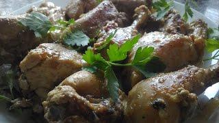 Вкусная курица с чесноком готовим в мультиварке.Мясо в мультиварке.
