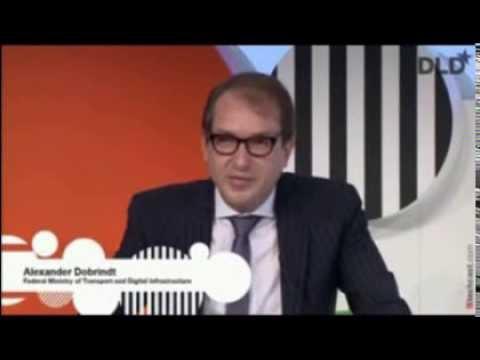 English tutorial feat. Alexander Dobrindt @ DLDconference Munich 2014