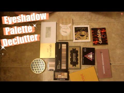 Declutter with Me   Eyeshadow Palette Declutter   Cassandra Smet