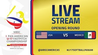 USA v Mexico - I U-17 Women's Softball Pan American Championship - Opening Round