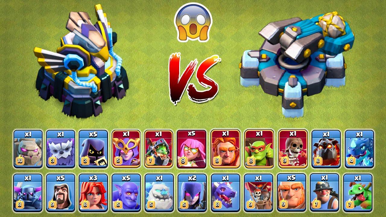 Eagle Artillery vs Scattershot vs All Troops - Clash of Clans