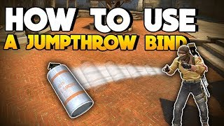 How to make & use a JUMPTHROW BIND (Commands in Discription)