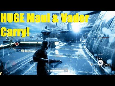 Star Wars Battlefront 2 - Huge Darth Maul & Darth Vader CARRY! | Crazy Kamino Match!