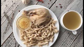 Котам галныш -Чеченские галушки с курицей