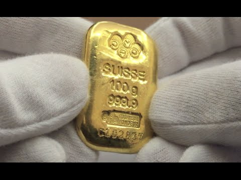 Pamp Suisse 100 Gram 9999 Cast Gold Bar Youtube