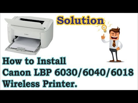 How To Install Canon LBP 6030, 6040, 6018L Wireless Printer On Windows 7, 8 1, 8, 10 In Hindi.