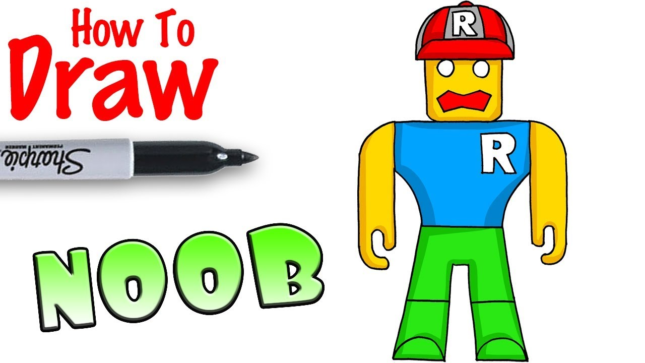 Roblox Pro Drawing How To Draw The Noob In Roblox Youtube