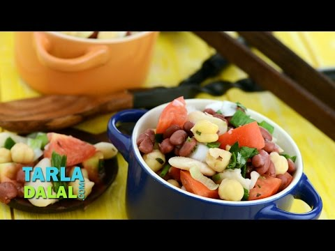 Three Bean Salad (Healthy Heart & Low Cholesterol Recipe) by Tarla Dalal