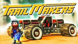 اصنع مركبتك | صنعنا سيارات سباق وتسابقنا TrailMakers