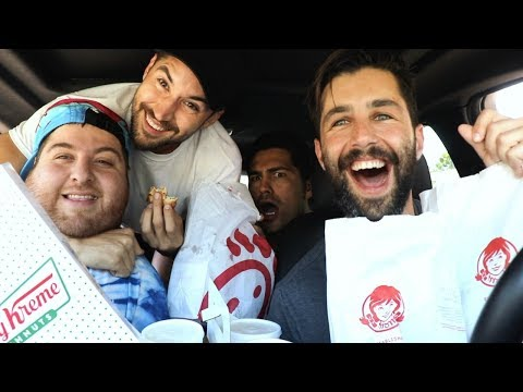 LETTING the person in front of us DECIDE what we EAT! ft Jonah, Jeff Wittek and Toddy