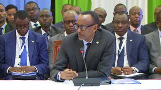 President Kagame speaks at the14th Northern Corridor Integration Projects Summit.