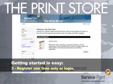 Online Printing from The Print Store at Service Point USA