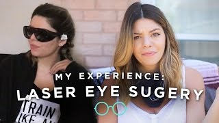 MY LASER EYE SURGERY EXPERIENCE + FOOTAGE