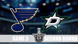 stars VS Blues Game 3 Даллас Сент Луис Плей-офф, 1/4 финала, Обзор матча