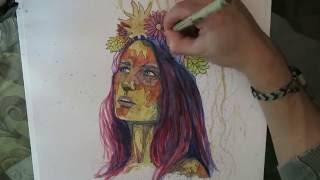Mother Nature - Timelapse drawing
