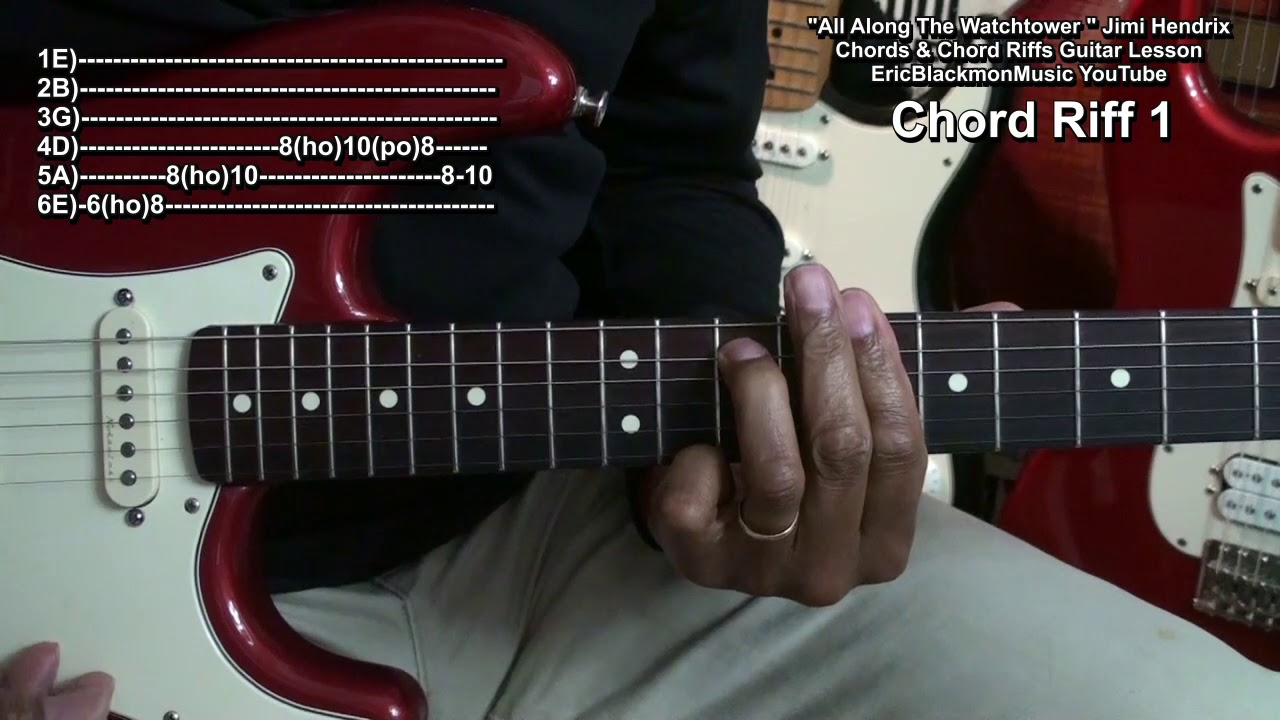 How To Play All Along The Watchtower Jimi Hendrix Electric Guitar