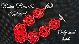 Download Video Roses Bracelet Tutorial (only seed beads) MP3 3GP MP4