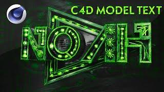 C4D Tutorial: Model Text Setup by Qehzy