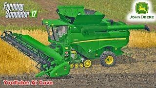 Farming Simulator 2017 - John Deere S670 RowTrac Combine, Volvo and New Holland