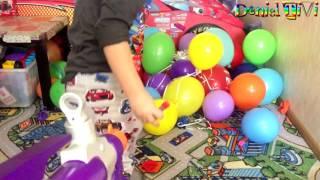 ЛОПАЕМ шарики МНОГО воздушных ШАРИКОВ, лопаются шарики воздушные шарики НЕРФ ВЗРЫВАЕТ