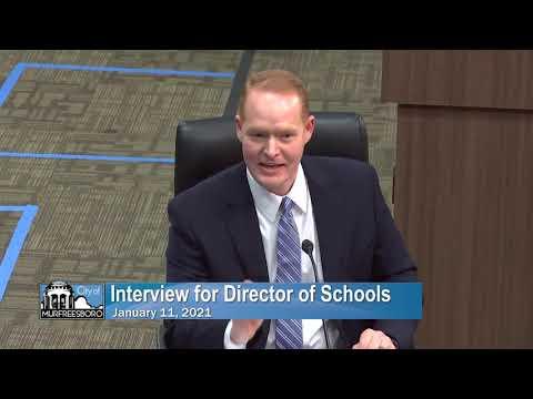 Murfreesboro City Schools Director Interview-Trey Duke (1/11/21)
