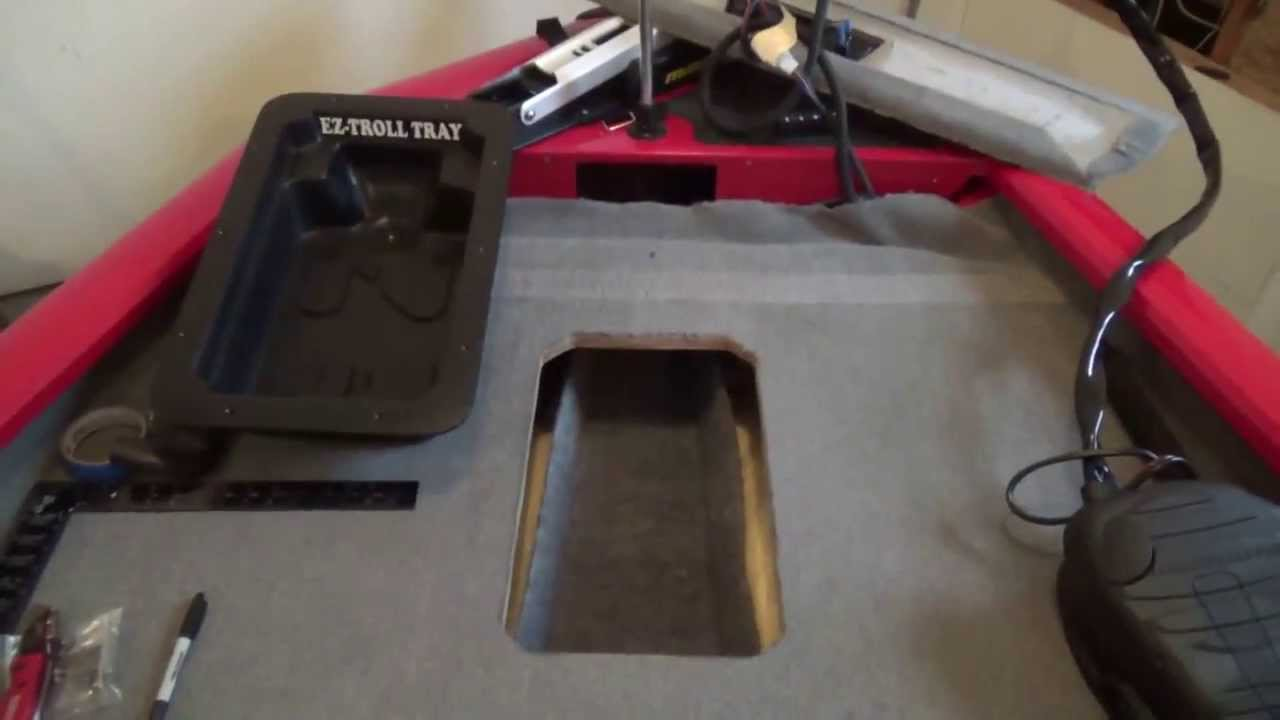 EZ-Troll Tray Installation - how to recess your trolling motor foot pedal