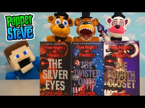 Five Nights at Freddys Plush Storytime BOOK Collection Twisted Ones Fourth Closet Silver Eyes
