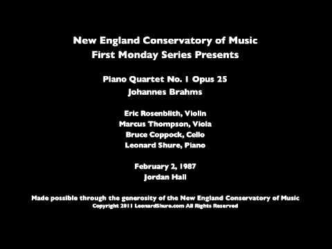 Leonard Shure Brahms Piano Quartet No. 1 in G minor Opus 25 (3 of 4)