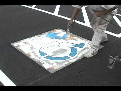 Painting A Handicap Symbol Youtube