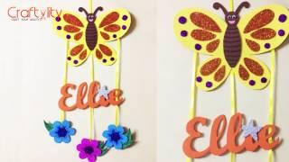 DIY Door Name Plate for Kids Room | Foam Craft | Wall hanging | Kids Craft