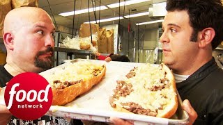 Adam Is First To Try Out Tony Luke's Ultimate Cheesesteak Challenge | Man v Food