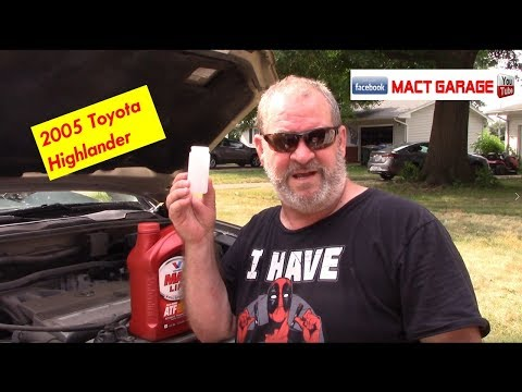2005 Toyota Highlander 3X Transmission Fluid Drain And Fill At 174,000 Miles