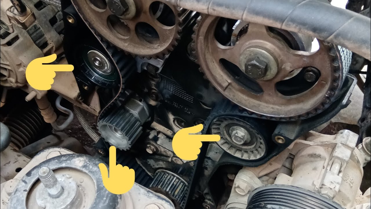chevrolettimingcomponant# timing belt tentioner and water pump replace of  optra 1.6.subscribe pls - youtube  youtube