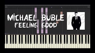 """How to play the piano """"feeling good"""" by michael buble! you can also use this video as a karaoke version sing along! listen buble - feeling..."""