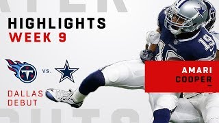 Amari Cooper Highlights from Cowboys Debut!