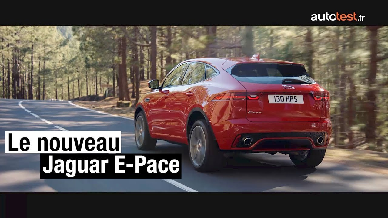 nouveau suv jaguar e pace 2017 l 39 essentiel savoir youtube. Black Bedroom Furniture Sets. Home Design Ideas