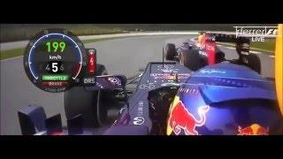 Webber zeigt Vettel den Stinkefinger - GP Malaysia 2013