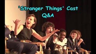 'Stranger Things' Cast Q&A @ Screen Actors Guild Screening (FIXED AUDIO) Video