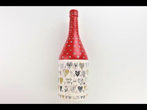 decoupage-bottle---diy-painted-bottle---decoupage-tutorial---decoupage-for-beginners