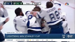 Lightning Capture Stanley Cup After Beating Dallas Stars In Game 6