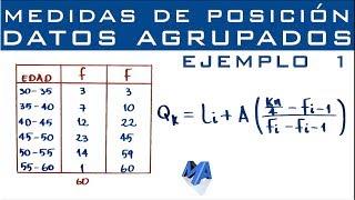 Cuartiles, Deciles y Percentiles | Datos agrupados en intervalos | Ejemplo 1 thumbnail